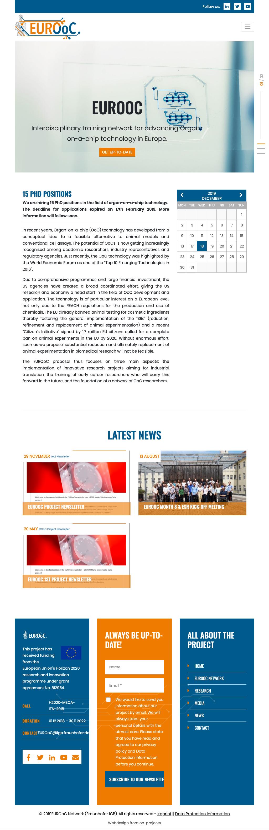 Responsive Webdesign Forschungsinstitut-Tablet