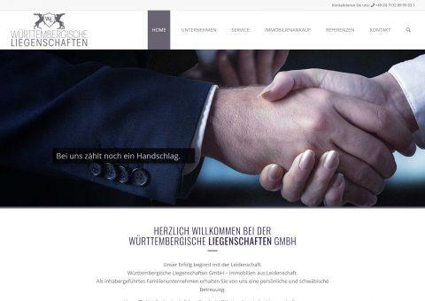 Webdesign Immobilienmakler Liegenschaften Ansicht Desktop