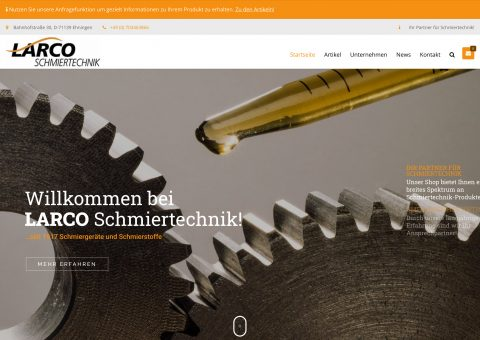 Webdesign Industrie Shop Desktop