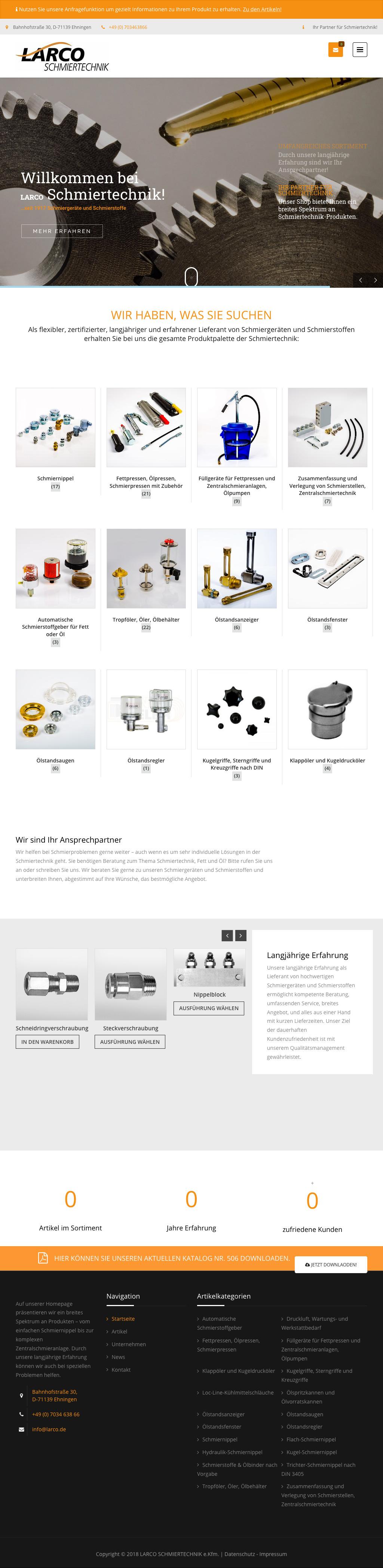 Webdesign Industrie Shop Tablet Ansicht