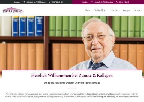Webdesign Rechtsanwaltskanzlei Steuerberater