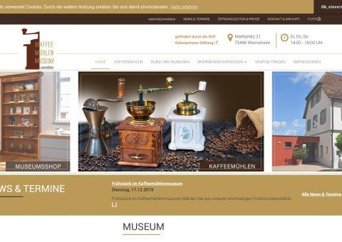Webdesign Relaunch Museum Ansicht Desktop