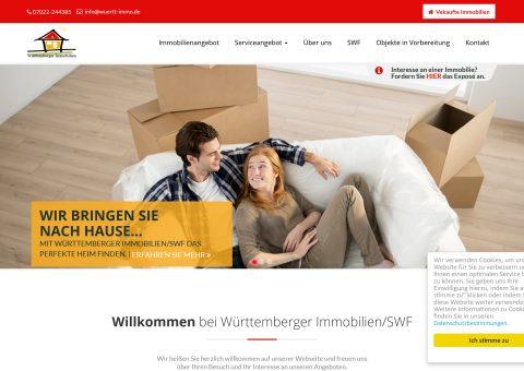 Webdesign für Immobilienmakler Desktop