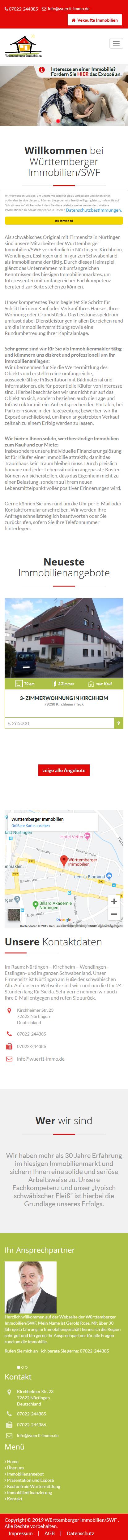 Webdesign für Immobilienmakler Responsive