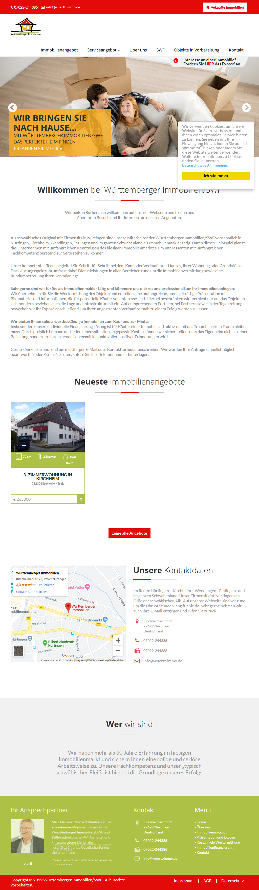 Webdesign für Immobilienmakler Tablet