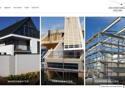 Webdesign für Architekturbüro Desktop