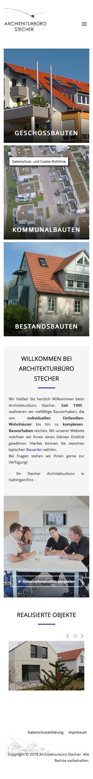 Webdesign für Architekturbüro Smartphone