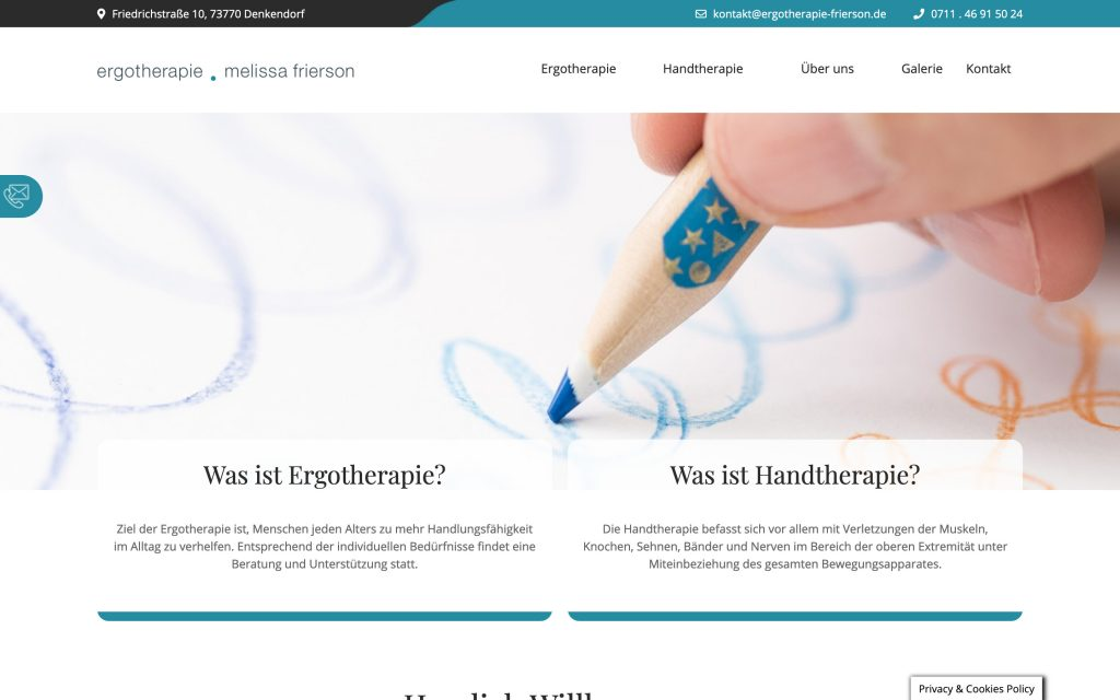 Website Ergotherapie