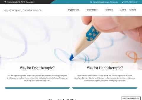 Website Ergotherapie