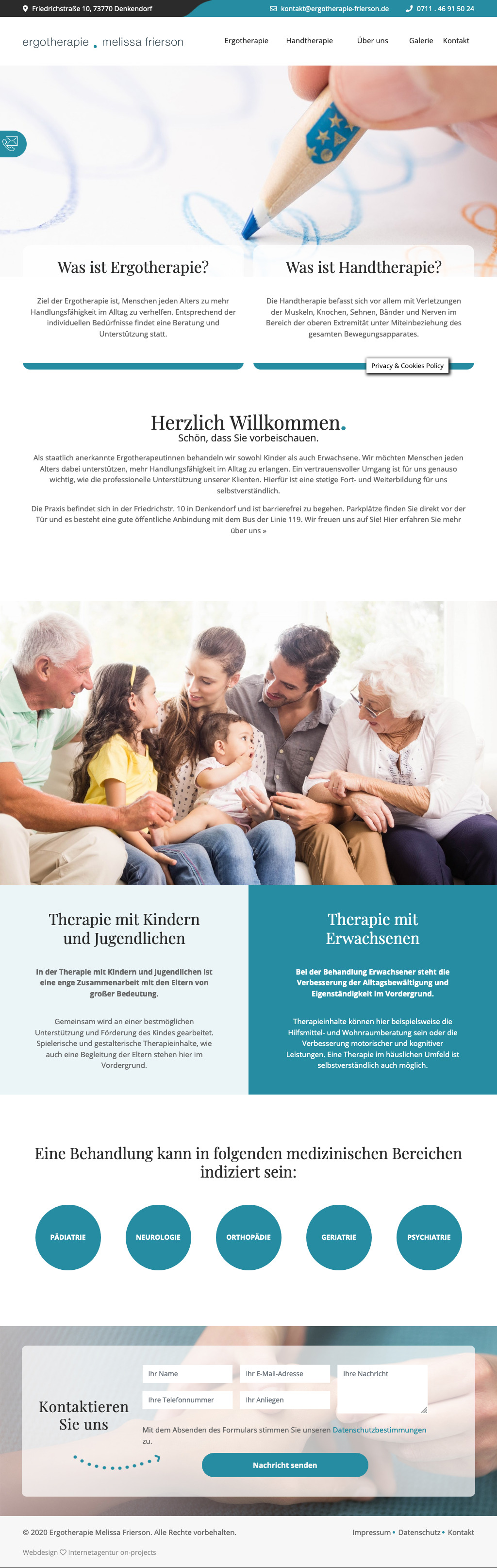 Website Ergotherapie Tablet