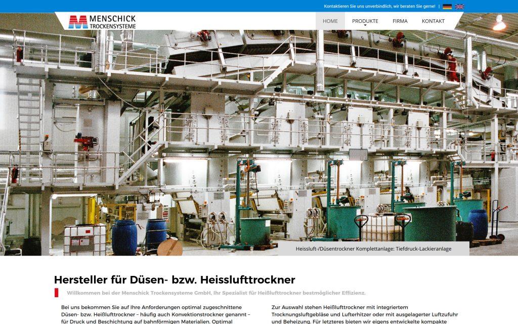 Webdesign für Hersteller von Düsen- bzw. Heisslufttrockner