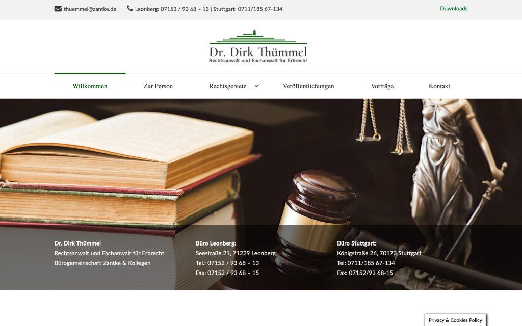 Webdesign für Rechtsanwalt